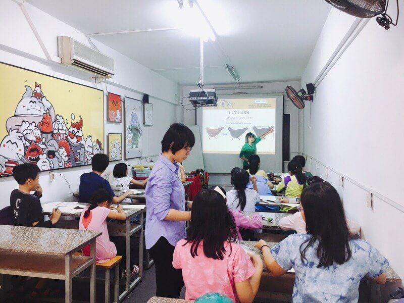 Khai giảng lớp dạy vẽ cho bé Khóa 8