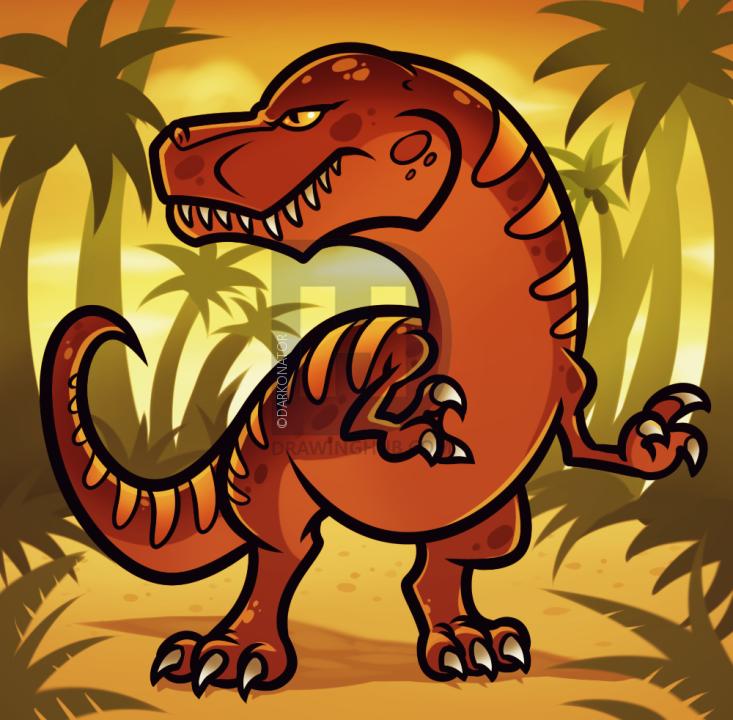11 bước vẽ khủng long theo phong cách comic 12