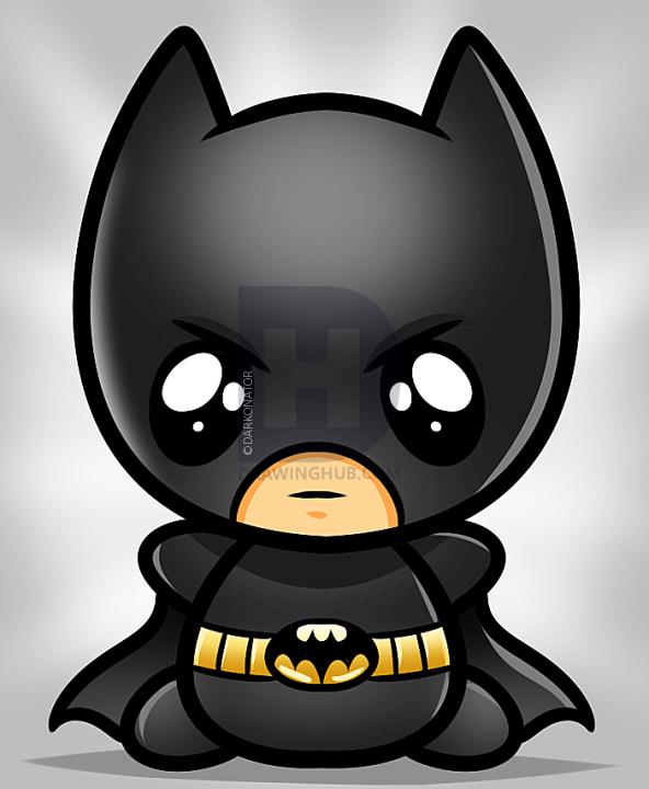 5 bước dễ dàng vẽ Batman theo phong cách Chibi  6