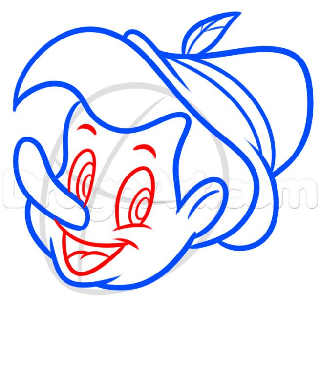 6 bước vẽ cậu bé Pinocchio dễ dàng 4