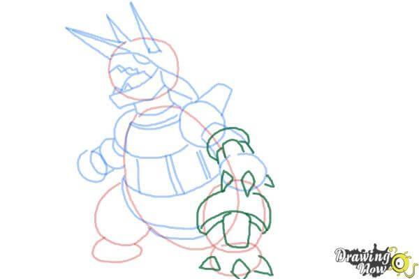 9 bước vẽ Pokemon Aggron siêu ngầu 6