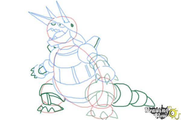 9 bước vẽ Pokemon Aggron siêu ngầu 7