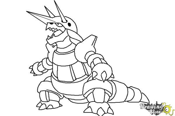 9 bước vẽ Pokemon Aggron siêu ngầu 8