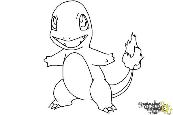 9 bước vẽ Pokemon Charmander thật dễ dàng 8