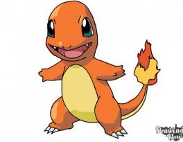 9 bước vẽ Pokemon Charmander thật dễ dàng 9