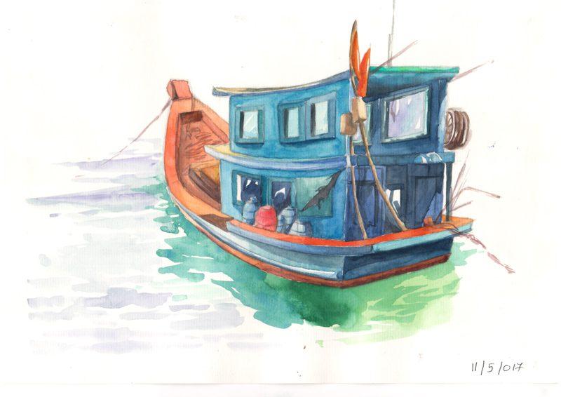Thực Tế Nam Du - Water Color Khương Thảo 10
