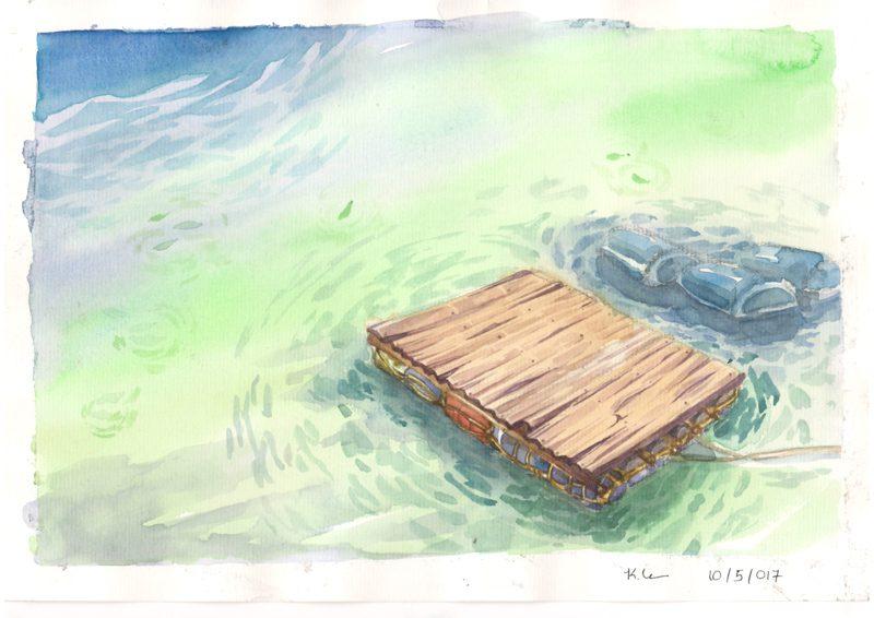 Thực tế Nam Du Watercolor Khương Thảo 15