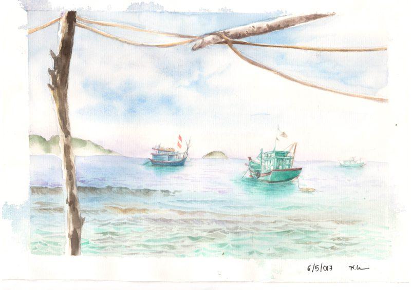 Thực tế Nam Du Watercolor Khương Thảo 20
