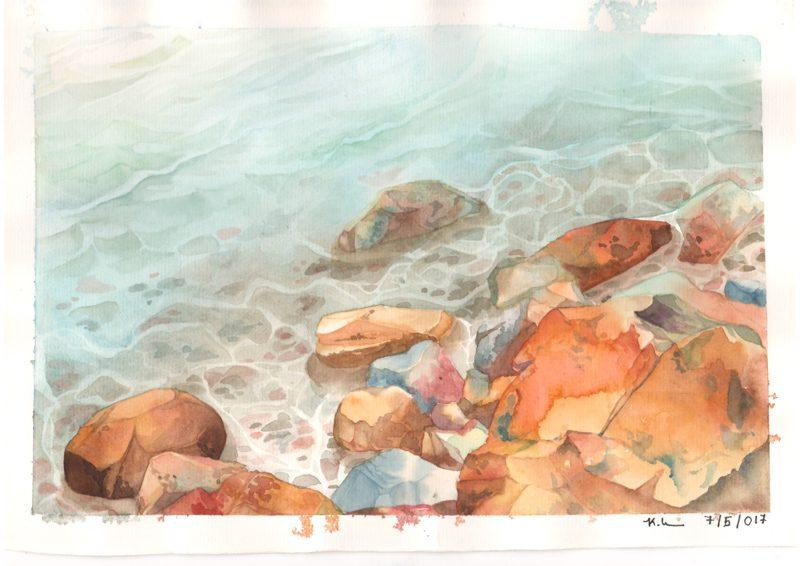 Thực tế Nam Du Watercolor Khương Thảo 21