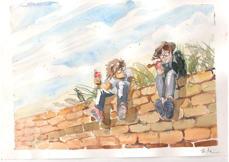 Thực tế Nam Du Watercolor Khương Thảo 22