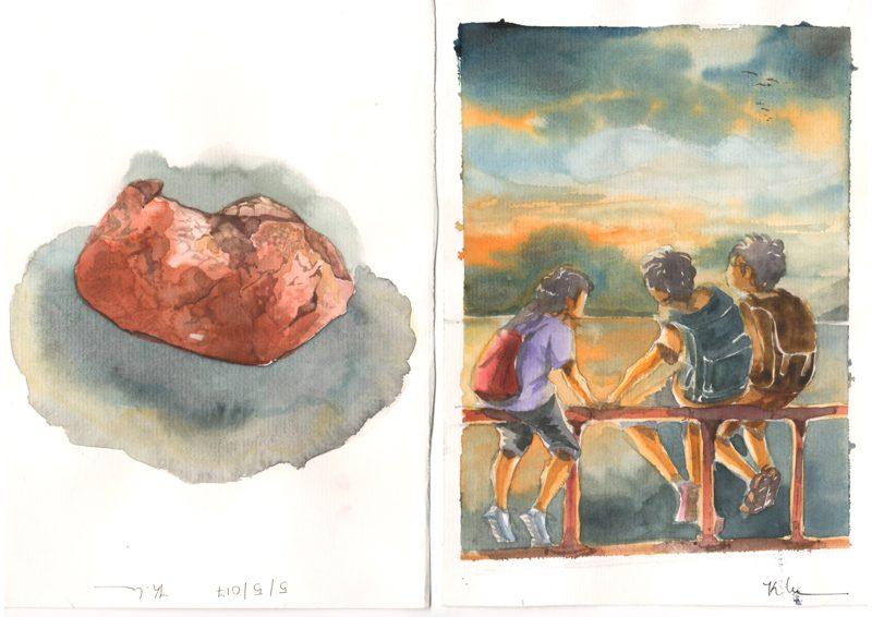 Thực tế Nam Du Watercolor Khương Thảo 23