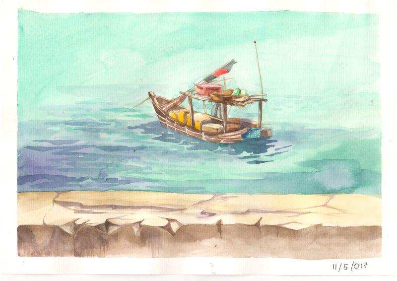 Thực tế Nam Du Watercolor Khương Thảo 5