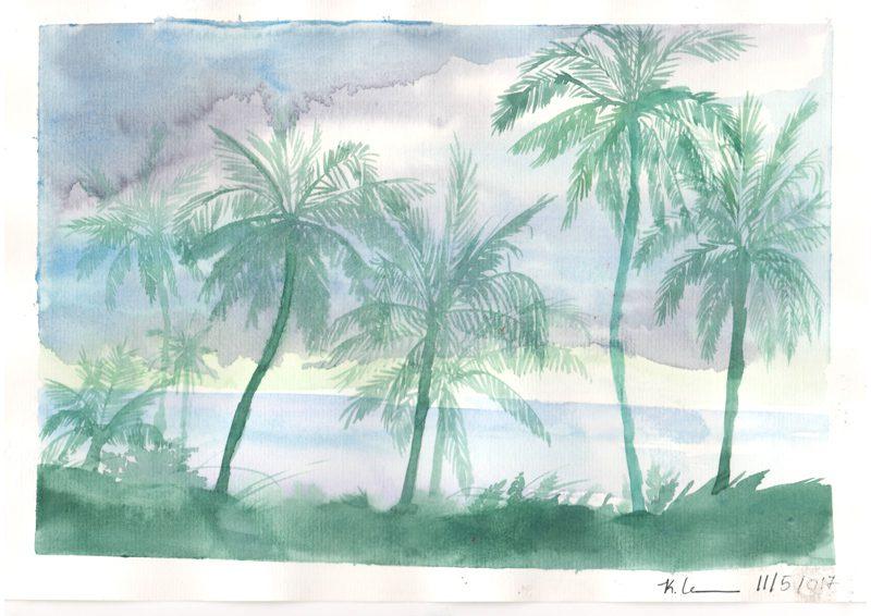 Thực tế Nam Du Watercolor Khương Thảo 7