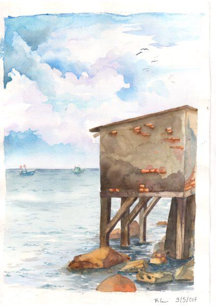 Thực tế Nam Du Watercolor Khương Thảo