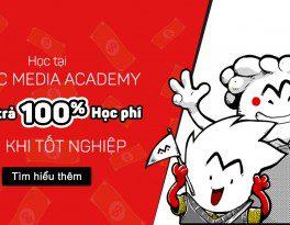 học tại Comic Media Academy Hoàn trả 100% học phí