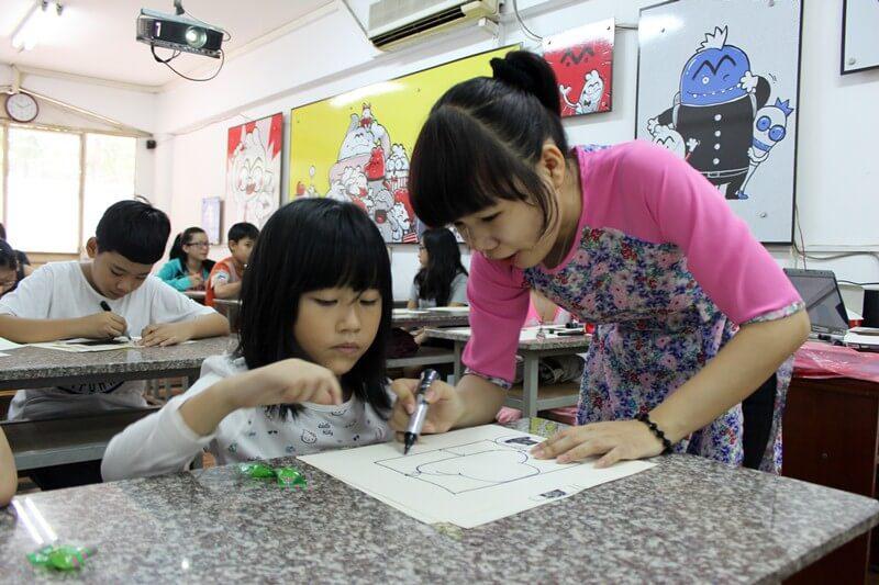 Lớp dạy vẽ thiếu nhi K10 20