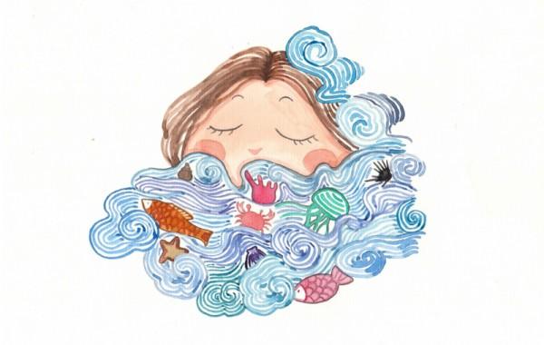 Tranh vẽ màu nước kỳ thực tế đảo Nam Du – Nguyễn Đặng Tú Trâm