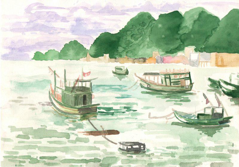 thực tế Nam Du water color 03