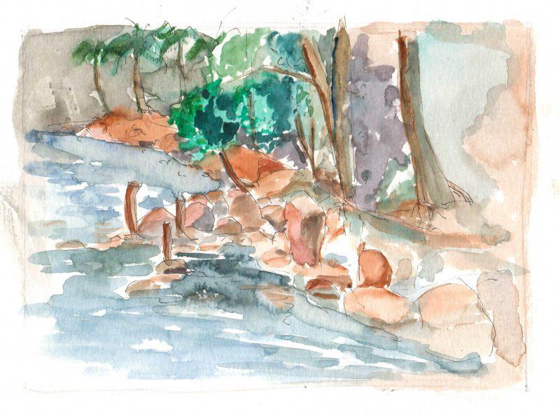 Thực tế Nam Du watercolor Nguyễn Thanh Triều 13
