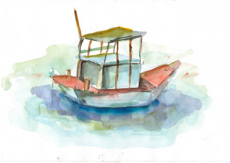Thực tế Nam Du watercolor Nguyễn Thanh Triều 2