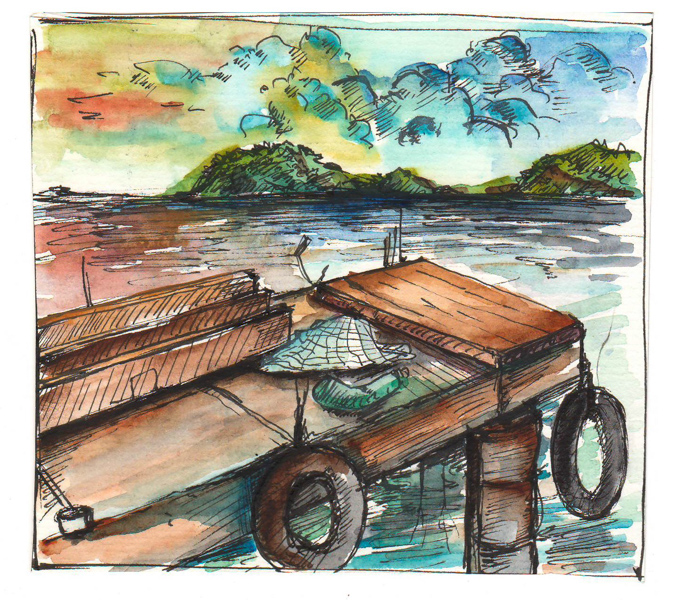 Thực tế Nam Du watercolor Nguyễn Thanh Triều 20