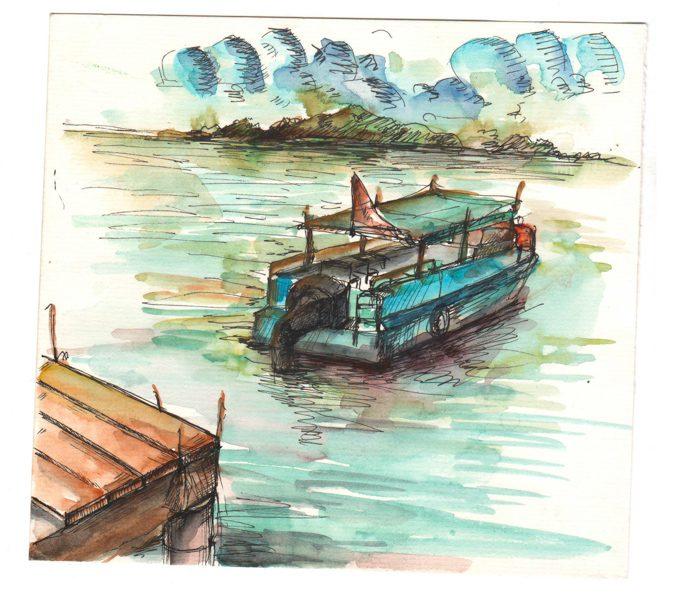 Thực tế Nam Du watercolor Nguyễn Thanh Triều 22