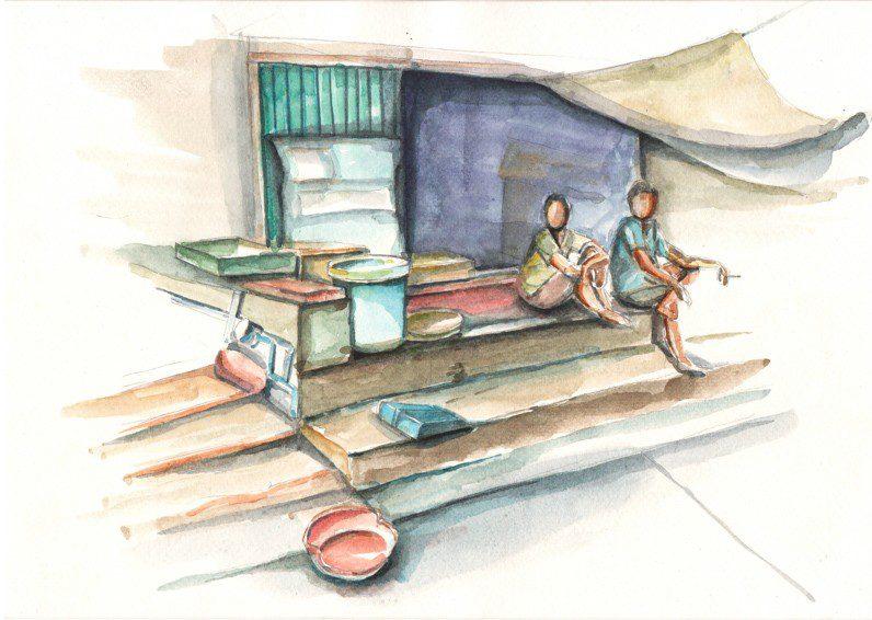 Thực tế Nam Du watercolor Nguyễn Thanh Triều 25