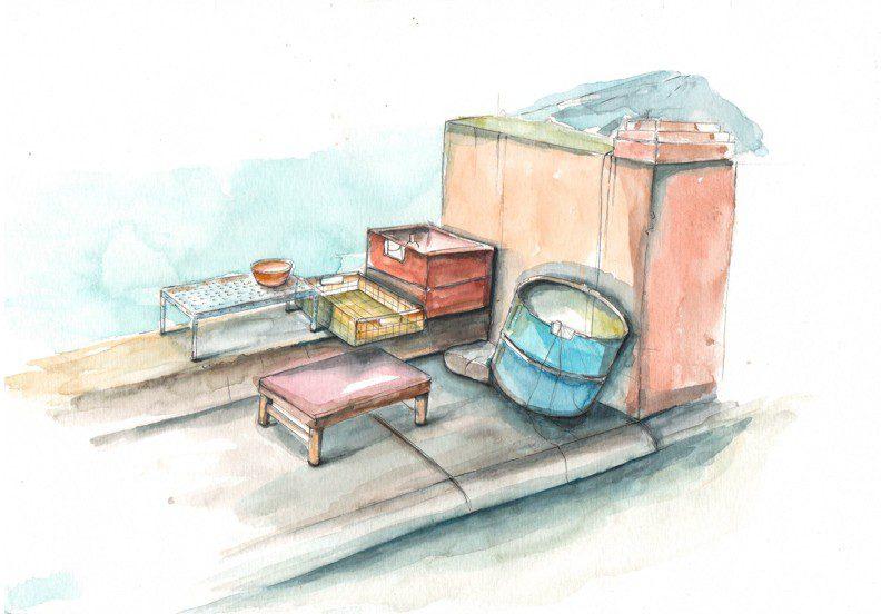 Thực tế Nam Du watercolor Nguyễn Thanh Triều 26