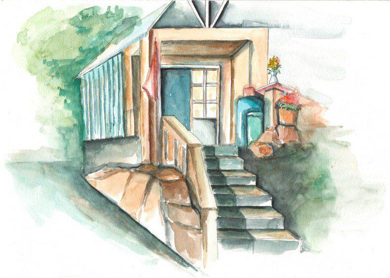 Thực tế Nam Du watercolor Nguyễn Thanh Triều 27