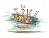 Tranh vẽ màu nước kỳ thực tế đảo Nam Du – Nguyễn Thanh Triều