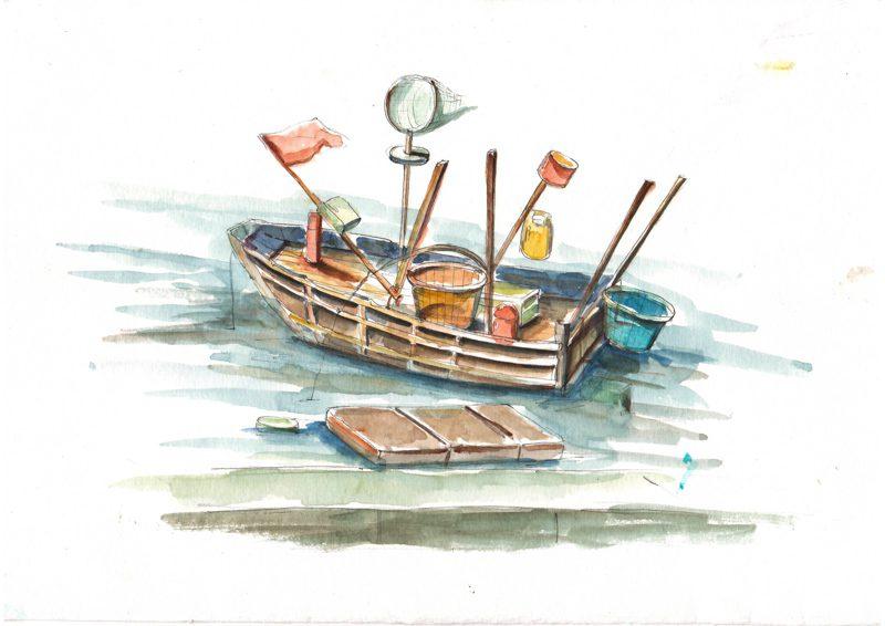 Thực tế Nam Du - watercolor Nguyễn Thanh Triều 28