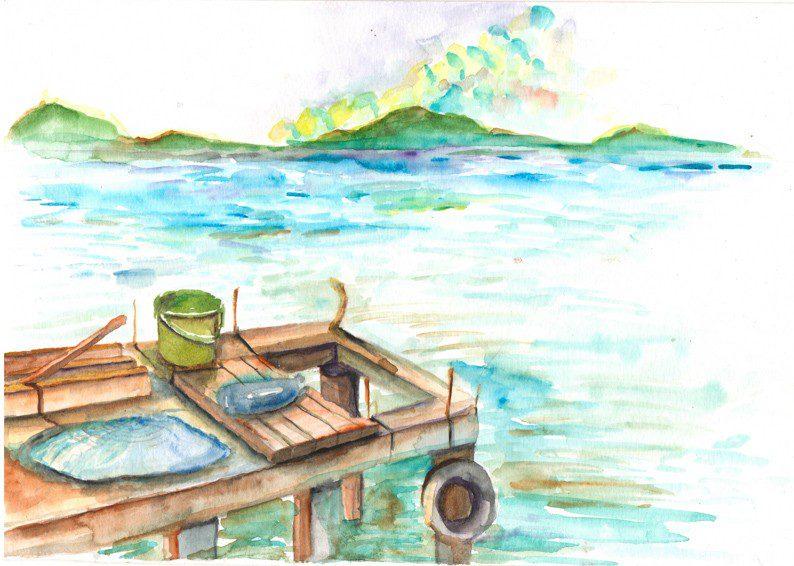 Thực tế Nam Du watercolor Nguyễn Thanh Triều 29