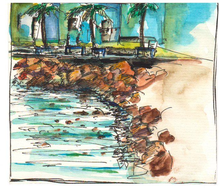 Thực tế Nam Du watercolor Nguyễn Thanh Triều 30