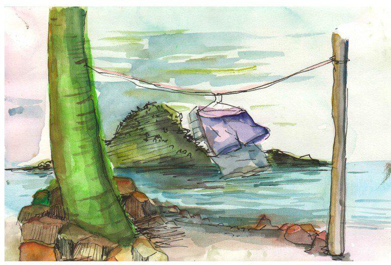 Thực tế Nam Du watercolor Nguyễn Thanh Triều 33