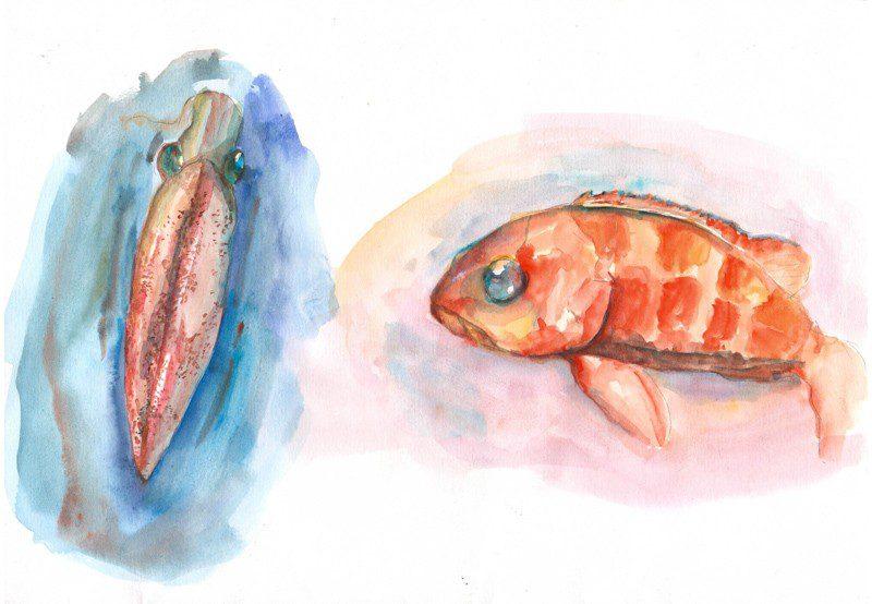 Thực tế Nam Du watercolor Nguyễn Thanh Triều 35