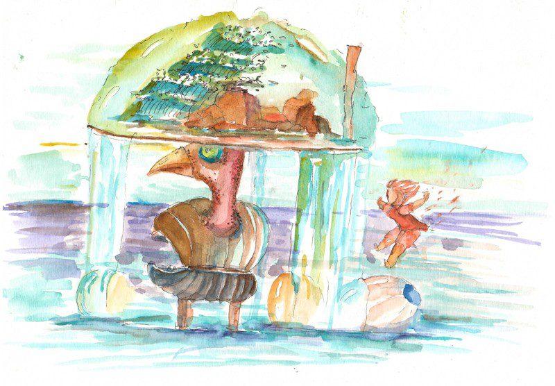 Thực tế Nam Du watercolor Nguyễn Thanh Triều 36