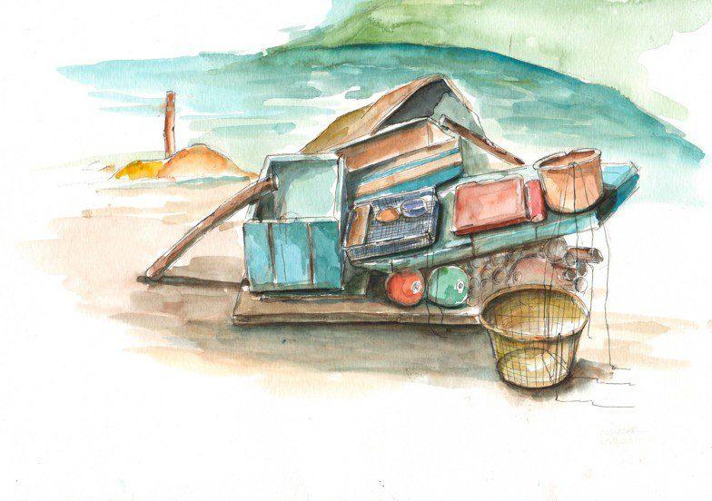 Thực tế Nam Du watercolor Nguyễn Thanh Triều 38