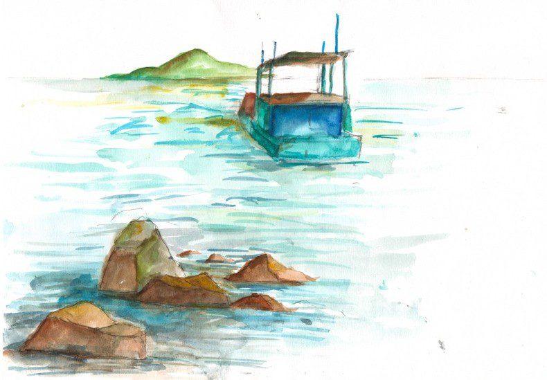 Thực tế Nam Du watercolor Nguyễn Thanh Triều 39