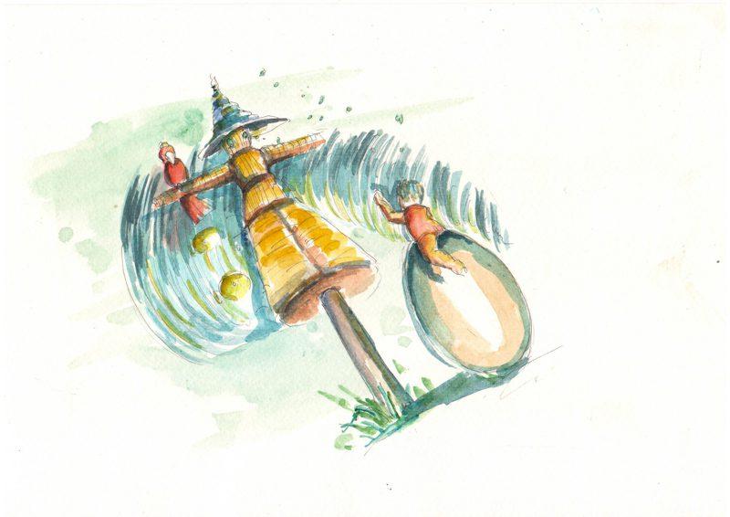 Thực tế Nam Du watercolor Nguyễn Thanh Triều 41