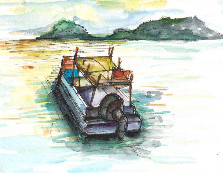 Thực tế Nam Du watercolor Nguyễn Thanh Triều 44