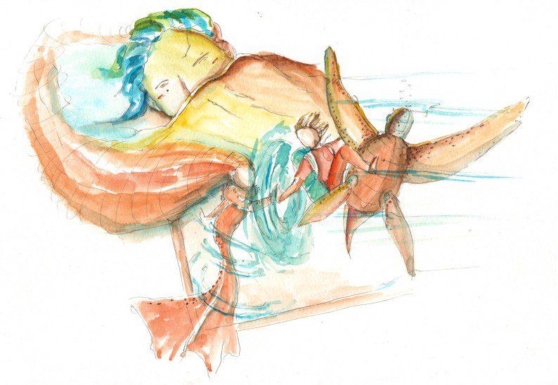 Thực tế Nam Du watercolor Nguyễn Thanh Triều 8