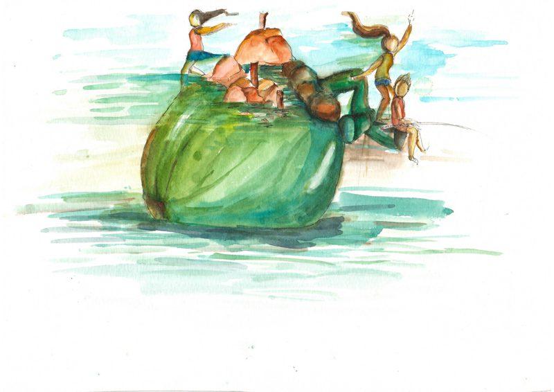 Thực tế Nam Du watercolor Nguyễn Thanh Triều 9