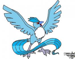 Vẽ Pokemon Articuno đơn giản chỉ với 10 bước 10