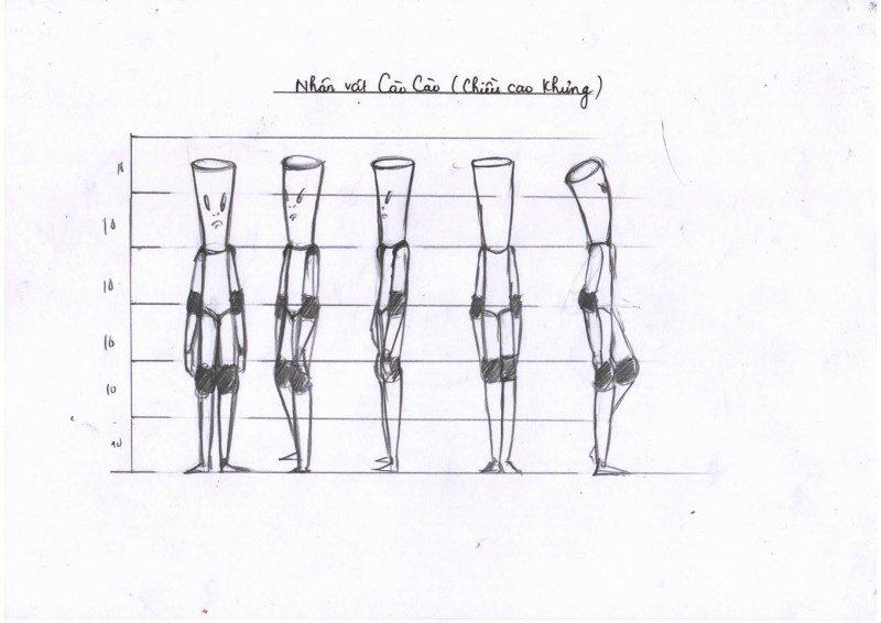 phim hoạt hình The Set Point - phác thảo nhân vật 2
