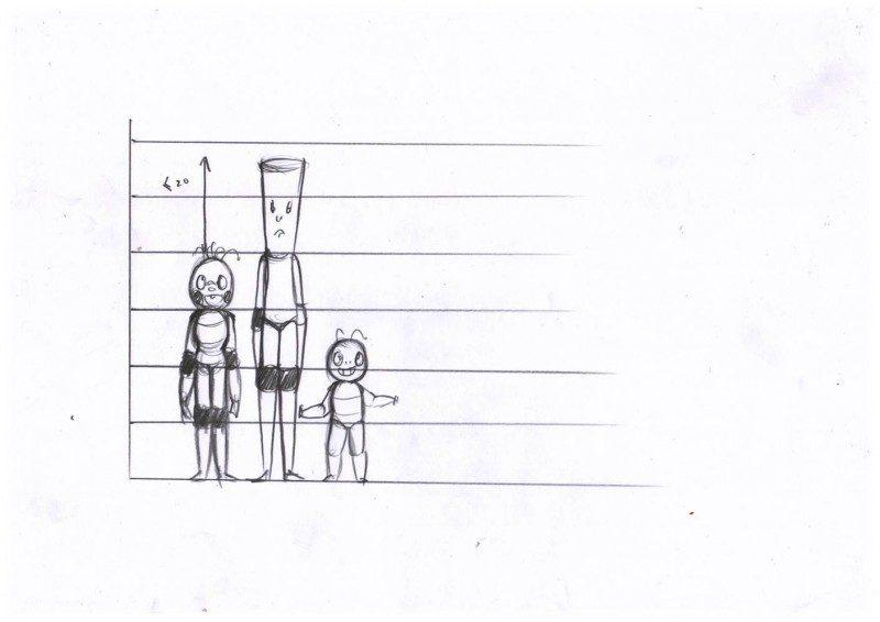 phim hoạt hình The Set Point - phác thảo nhân vật 3