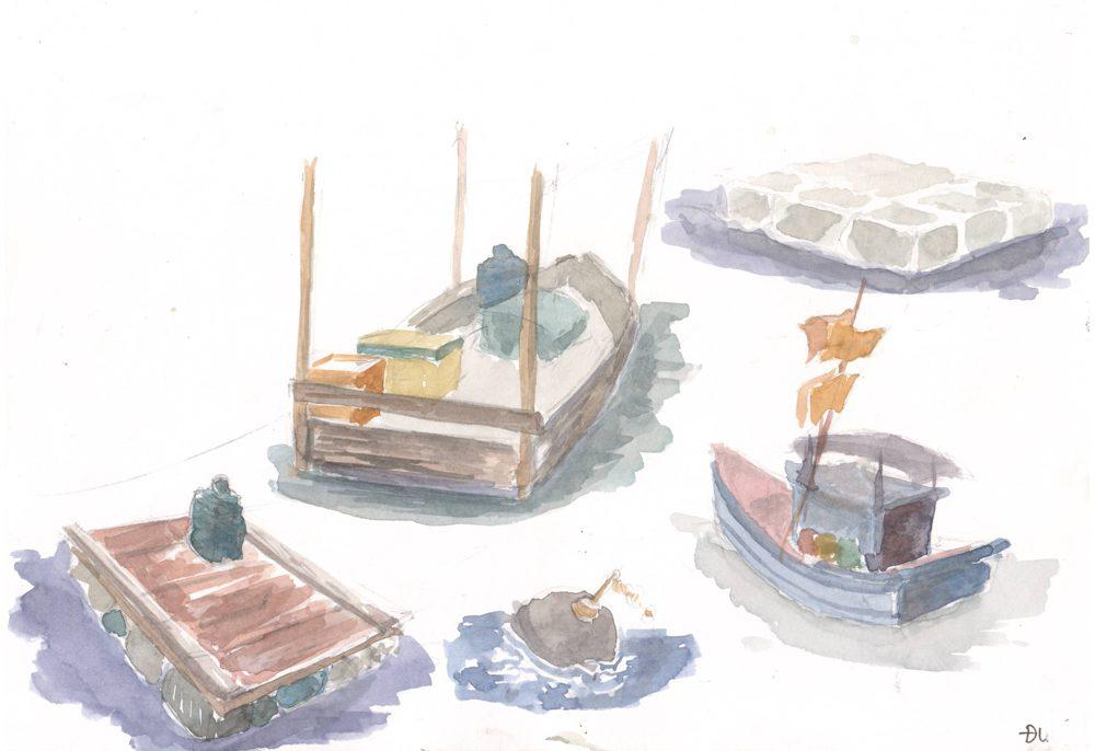 Tranh vẽ Màu nước - Phan Hồng Đức 13