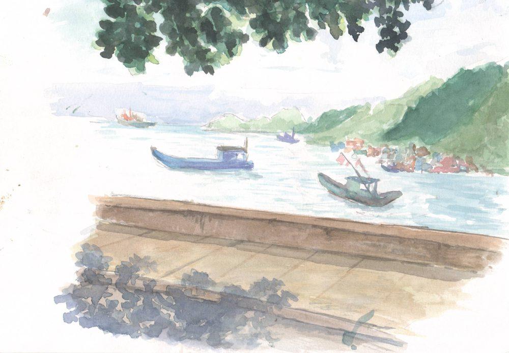 Tranh vẽ Màu nước - Phan Hồng Đức 3
