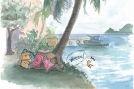 Tranh vẽ màu nước Kỳ thực tế đảo Nam Du – Phan Hồng Đức