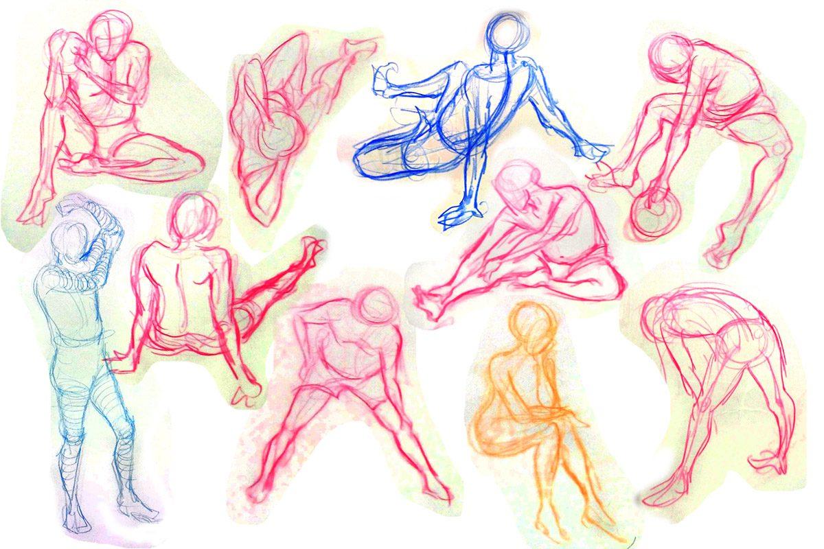 Bài thi Gesture Drawing 1 min - Hải Ngân