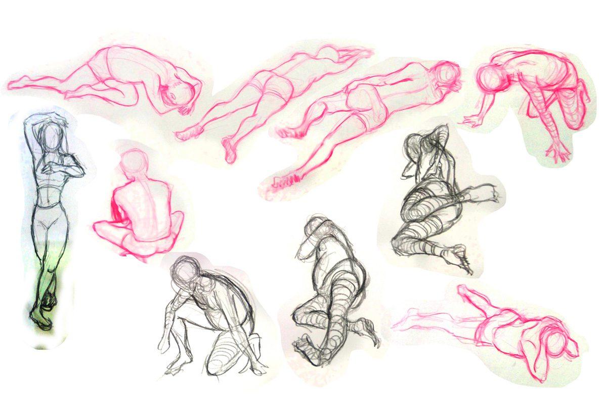 Bài thi Gesture Drawing 2 min - Hải Ngân